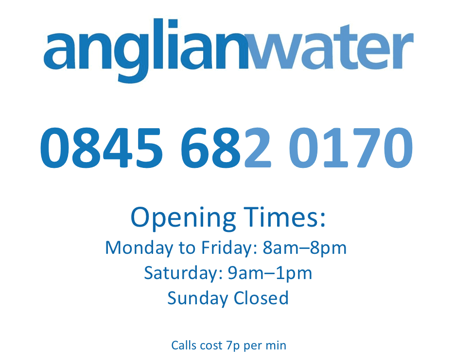 Anglian+Water+Contact+Number+and+Opening+Hours