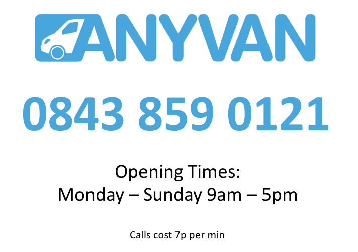 AnyVan+contact+number+and+opening+times