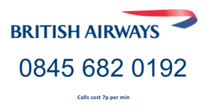 British+Airways+contact+number+and+logo