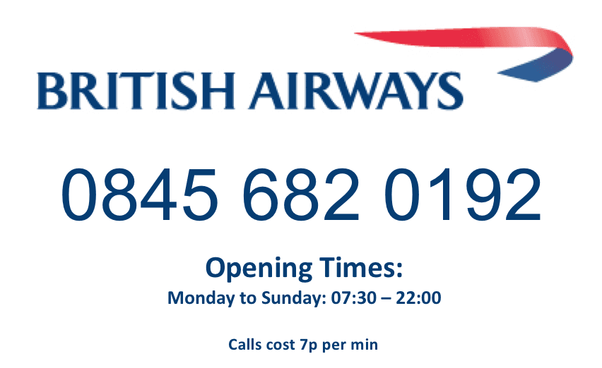 British+Airways+opening+times+and+contact+number