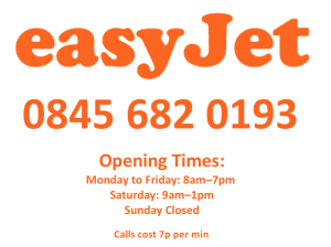 Easyjet opening times and contact number