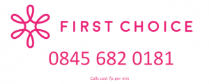First Choice Contact Number and Logo