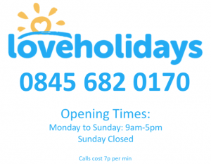 Love Holidays Opening Times and contact number