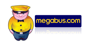 Megabus logo and contact number