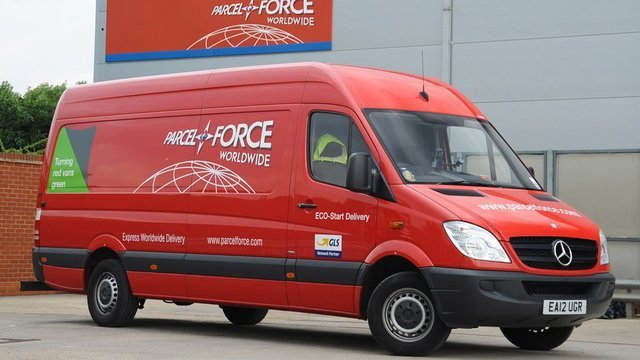 Parcelforce+Van+With+Contact+Number+On