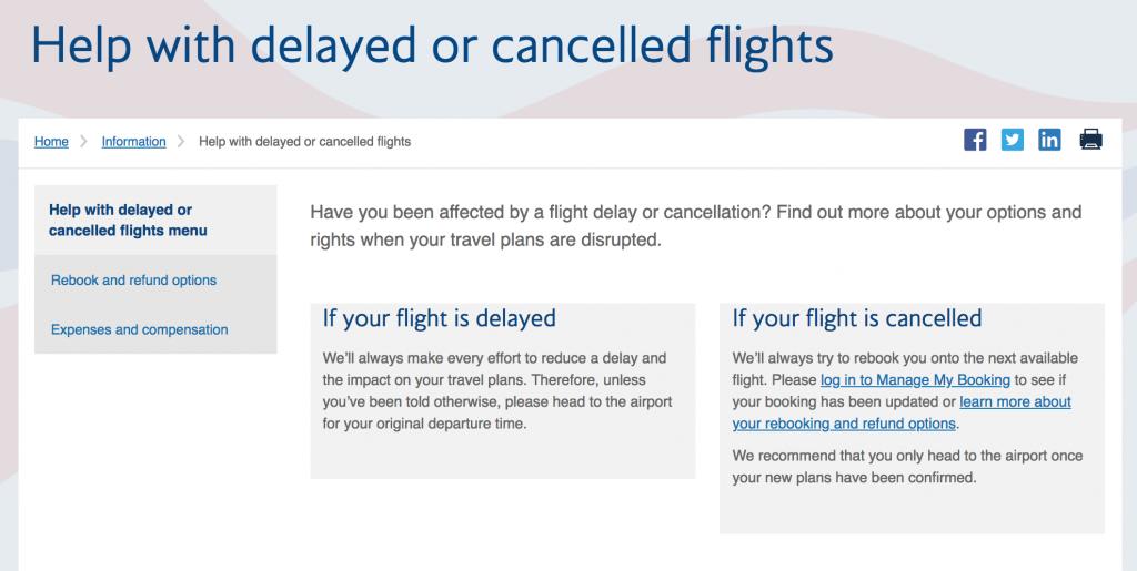 British Airways 24 Hour Helpline Number