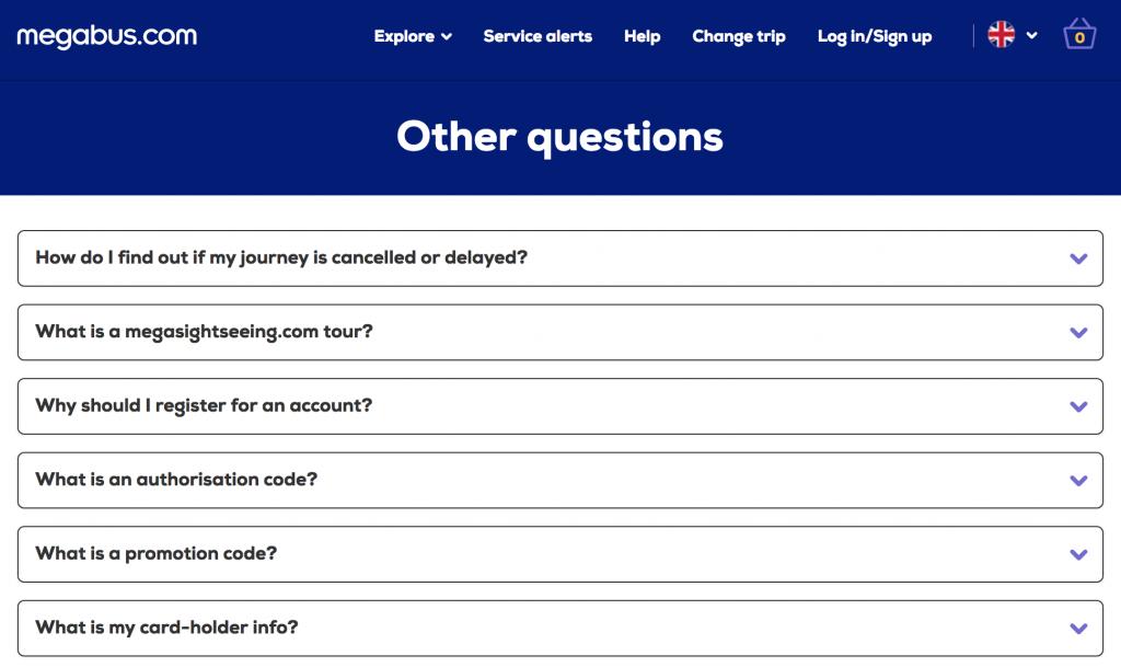 Megabus Homepage Contact Numbers