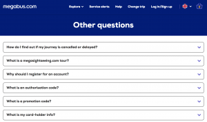 Megabus Homepage Contact Numbers