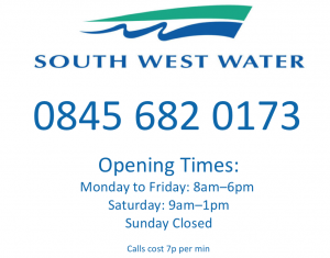 South+West+water+contact+number+and+opening+times