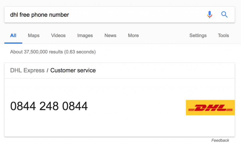 DHL Free Phone Number
