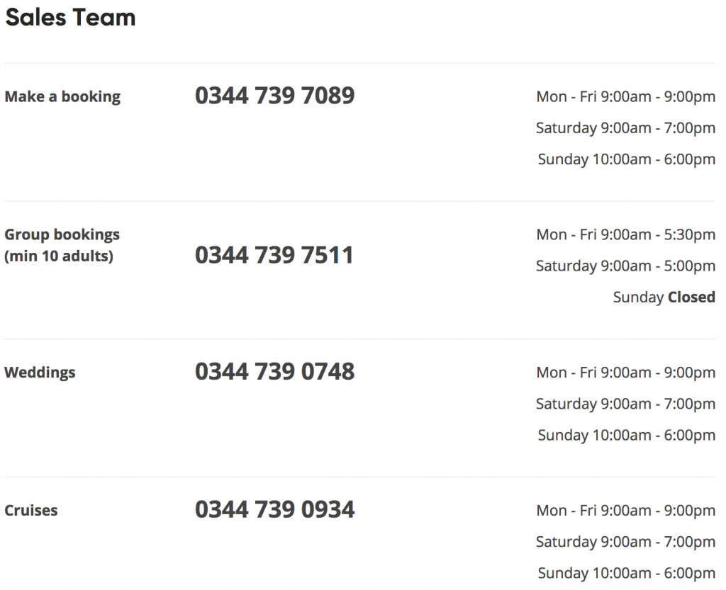 Virgin Holidays Sales Team Contact Number