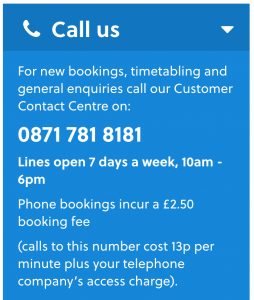 Additional National Express Contact Numbers