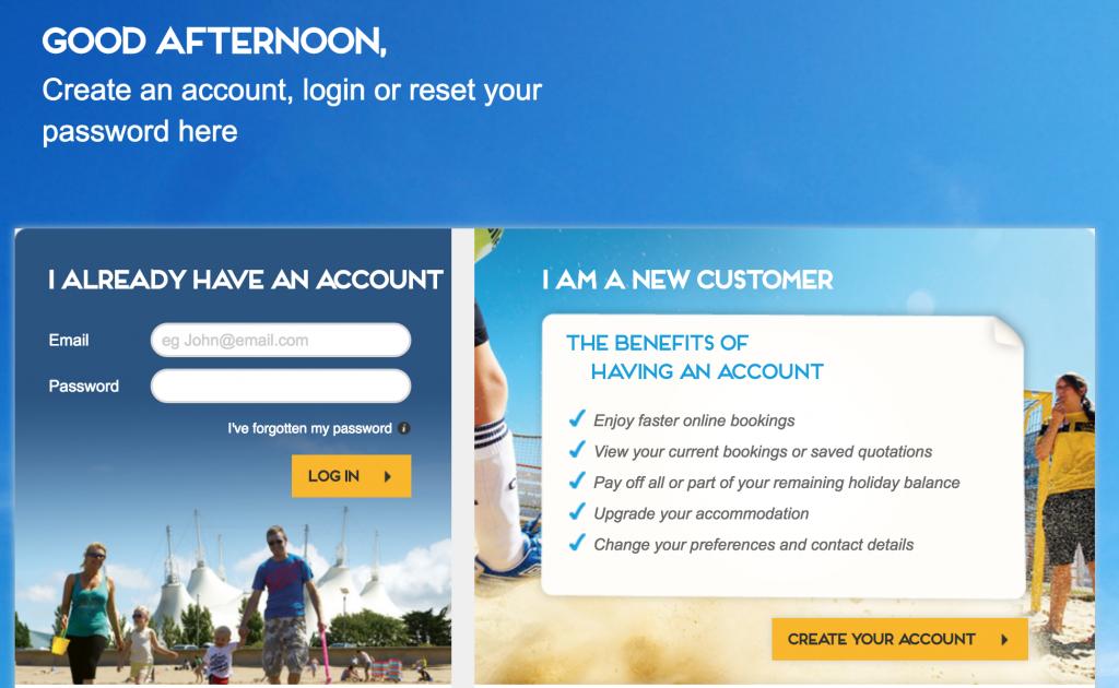 Butlins online manage booking portal