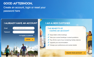 Butlins online manage booking portal