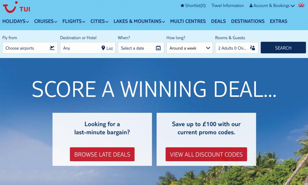 TUI Homepage Website