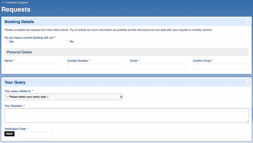 Sunmaster online contact form