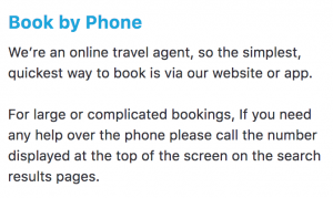 How to book by the phone