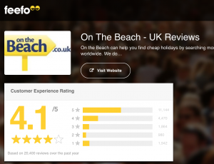 On The Beach customer service reviews
