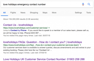 Love Holidays Emergency Contact Number Google Search