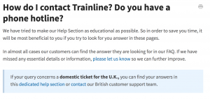 How to contact Trainline blog post