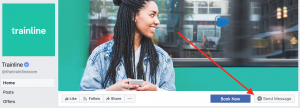Trainline Facebook Contact Button