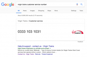 Virgin Trains Customer Service Number