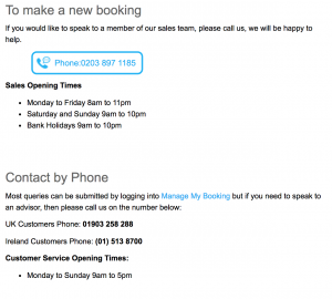 Love Holidays Booking & Customer Service Contact Number