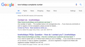 Love Holidays Complaints Number