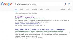 Love Holidays Complaints Number