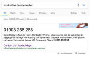 Love Holidays Booking Number