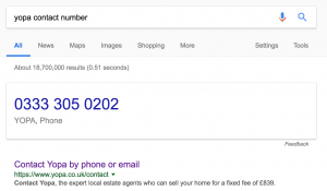 YOPA Contact Number Google Search