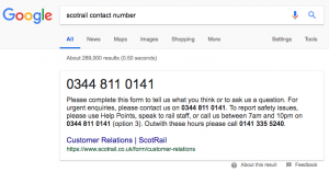 ScotRail Contact Number Search