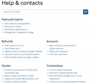 TFL Contact Webpage