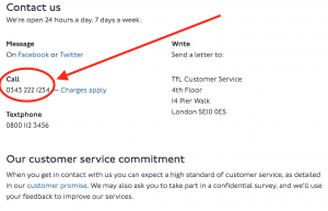 TFL Customer Service Contact Information