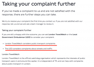 TFL Complaints Escalation