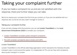 TFL Complaints Escalation