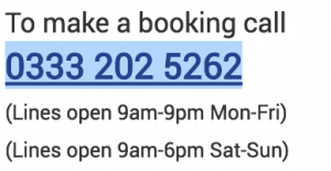 Haven Booking Contact Number